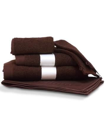 Parure de bain 6 pièces PURE Marron 550 g/m2
