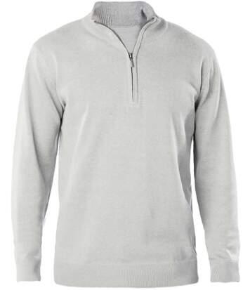 Pull col zippé pour homme - K970 - gris