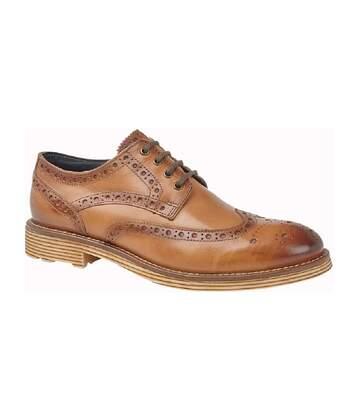 Roamers - Chaussures Gibson En Cuir Brogue (Marron) - UTDF1904