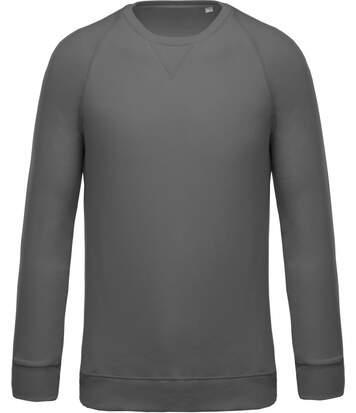 Sweat shirt coton bio - Homme - K480 - gris foncé