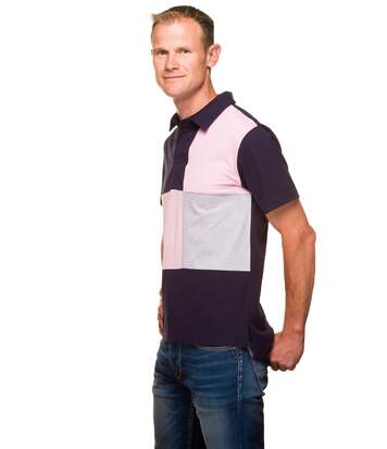 Polo Rugby Droit Coton Jersey Tricolore
