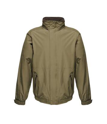 Regatta Dover Waterproof Windproof Jacket (Thermo-Guard Insulation) (Dark Khaki/Black) - UTBC839