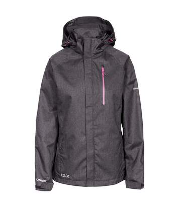 Trespass Womens/Ladies Tiya Waterproof DLX Jacket (Black Marl) - UTTP4651