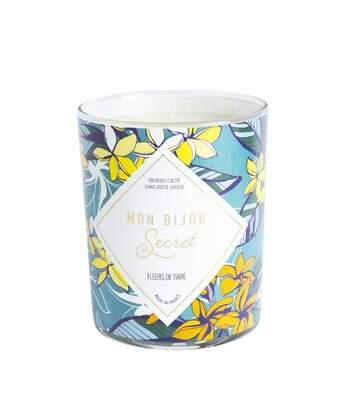 Bougie Bijou Collier argenté - Parfum Fleur de tiaré - 40h