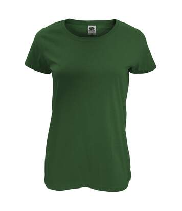 Fruit Of The Loom - T-Shirt À Manches Courtes - Femme (Vert bouteille) - UTRW4724