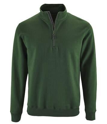 Sweat-shirt col camionneur - 02088 - vert