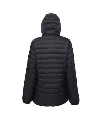 2786 Womens/Ladies Hooded Water & Wind Resistant Padded Jacket (Black/Black) - UTRW3425