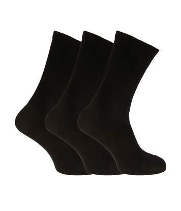 Womens/Ladies Extra Wide Comfort Fit Diabetic Socks (3 Pairs) (Black) - UTW472