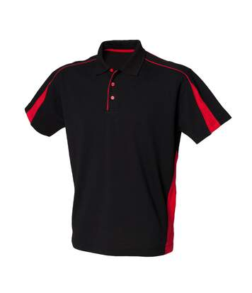 Finden & Hales Mens Club Polo Shirt (Black/Red) - UTRW431