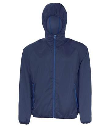 Veste coupe-vent imperméable 01169 - bleu marine - unisexe