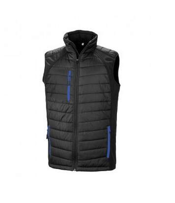 Result Mens Black Compass Padded Soft Shell Gilet (Black/Royal Blue) - UTPC3327