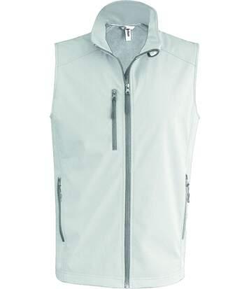 Bodywarmer softshell - gilet sans manches - K403 - blanc - Homme