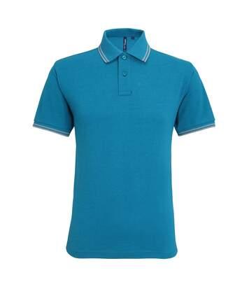 Asquith & Fox Mens Classic Fit Tipped Polo Shirt (White/ Black) - UTRW4809