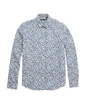 Brave Soul Mens Chelsea Floral Print Casual Shirt (Ecru/Multicolour) - UTRW5028
