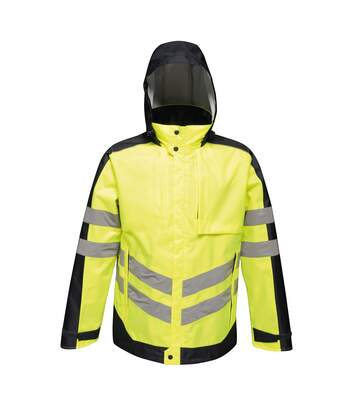 Regatta Mens Hi-Vis Waterproof Insulated Reflective Jacket (Yellow/Navy) - UTRG4533