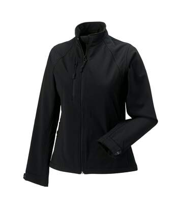 Jerzees Colours Ladies Water Resistant & Windproof Soft Shell Jacket (Black) - UTBC561