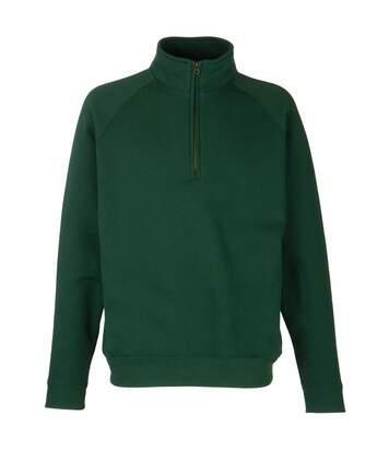Fruit Of The Loom Mens Zip Neck Sweatshirt Top (White) - UTBC1370
