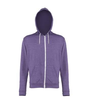 Awdis Mens Heather Lightweight Hooded Sweatshirt / Hoodie / Zoodie (Purple Heather) - UTRW184
