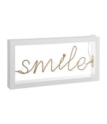 Atmosphera - Décoration lumineuse LED Mot SMILE 30 x 15 cm Cosy'ness