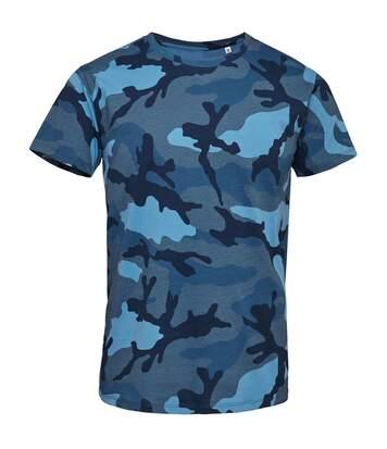 SOLS Mens Camo Short Sleeve T-Shirt (Blue Camo) - UTPC2166