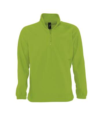 SOLS Ness Unisex Zip Neck Anti-Pill Fleece Top (Lime) - UTPC345
