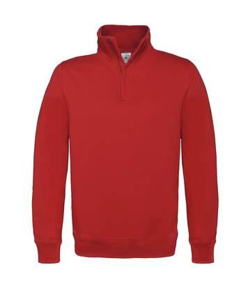B&C Mens ID.004 1/4 Zip Sweatshirt (Red) - UTRW3028