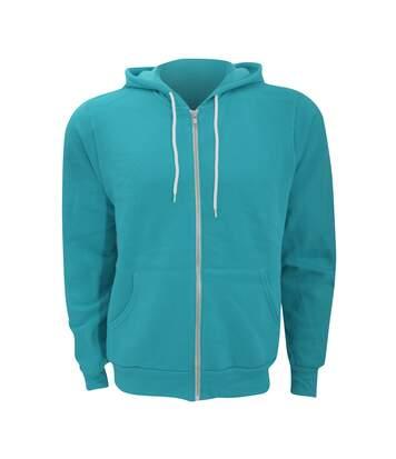 Canvas Unixex Zip-up Polycotton Fleece Hooded Sweatshirt / Hoodie (Teal) - UTBC1337
