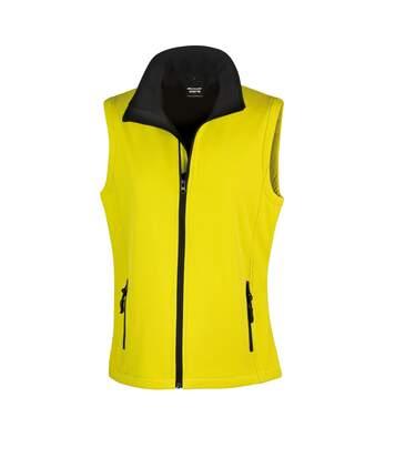 Result Core Womens/Ladies Printable Softshell Bodywarmer (Yellow / Black) - UTRW3698