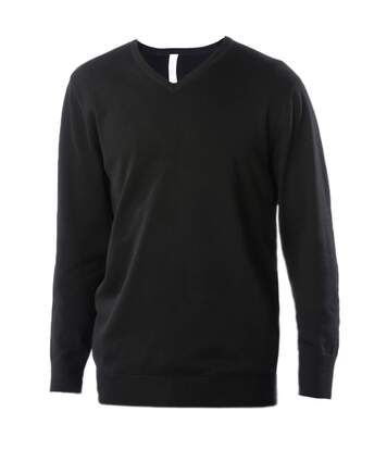 Kariban Mens V-Neck Long Sleeve Jumper / Knitwear (Black) - UTRW2714