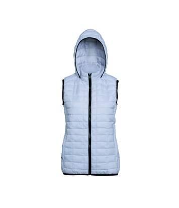 2786 Honeycomb - Gilet Sans Manche Zippée - Femme (Blanc) - UTRW5262