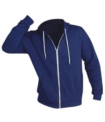 Sols Silver - Sweatshirt À Capuche Et Fermeture Zippée - Homme (Bleu abysse) - UTPC342