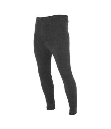 FLOSO Mens Thermal Underwear Long Johns/Pants (Standard Range) (Charcoal) - UTTHERM20