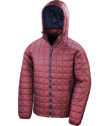 Doudoune à capuche homme - R401X - rouge ruby