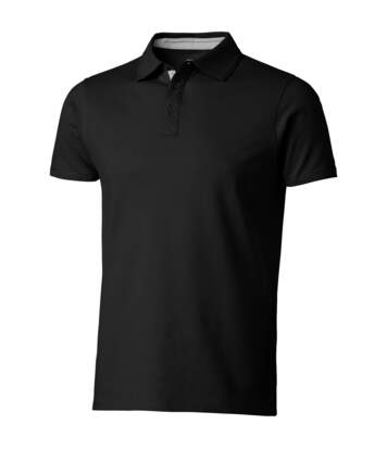 Slazenger Mens Hacker Short Sleeve Polo (Solid Black) - UTPF1736