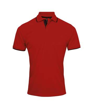 Premier Mens Contrast Coolchecker Polo Shirt (Navy/White) - UTRW5520