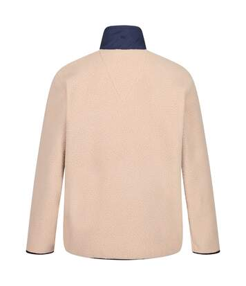 Regatta Mens Cayo Heavyweight Full Zip Fleece Jacket (Oat/Navy) - UTRG4599