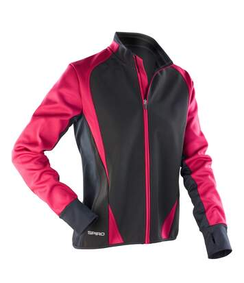 Spiro Womens/Ladies Freedom Softshell Sports/Training Jacket (Magenta/ Black) - UTRW2856