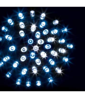 Feeric Christmas - Guirlande Lumineuse Intérieure et Extérieure 10 m 100 LED Blanc froid et Bleu et 8 jeux de lumière