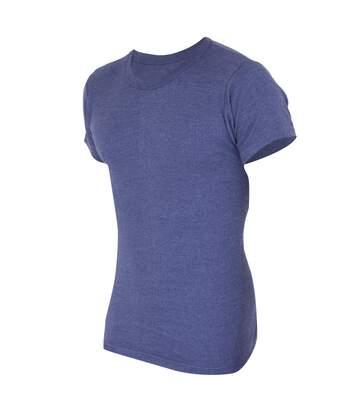 FLOSO Mens Thermal Underwear Short Sleeve T-Shirt Vest Top (Standard Range) (Denim) - UTTHERM111