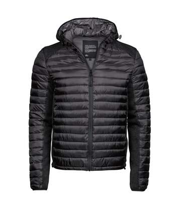 Tee Jays Mens Aspen Crossover Jacket (Jet Black/Black Melange) - UTBC3929