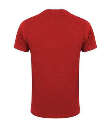 Skinni Fit Men Mens Feel Good Stretch Short Sleeve T-Shirt (Heather Red) - UTRW4427