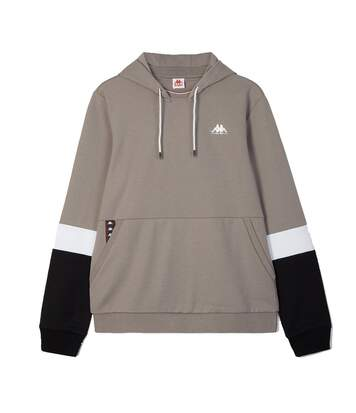 sweat marron homme Kappa Authentic Isai