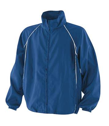 Finden & Hales Mens Piped Showerproof Full Zip Sports Training Jacket (Royal/Royal/White) - UTRW440