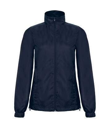 B&C Womens/Ladies ID.601 Hooded Showerproof Windbreaker Jacket (White) - UTRW3523