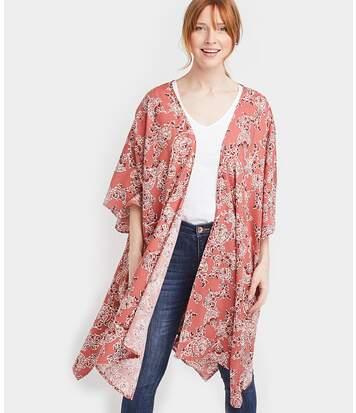 Long kimono imprimé femme