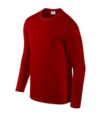 Gildan Mens Soft Style Long Sleeve T-Shirt (Red) - UTBC488