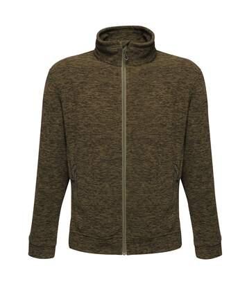 Regatta Mens Thornly Full Zip Marl Fleece Jacket (Dark Khaki Marl) - UTRW6621