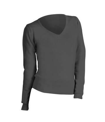 SOLS Womens/Ladies Galaxy V Neck Sweater (Medium Grey) - UTPC401