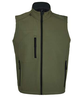 SOLS Mens Rallye Soft Shell Bodywarmer Jacket (Dark Green) - UTPC349