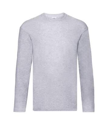 Fruit Of The Loom Mens Original Long Sleeve T-Shirt (Heather Grey) - UTPC3035